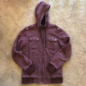 Maroon Fleece Jacket American Rag